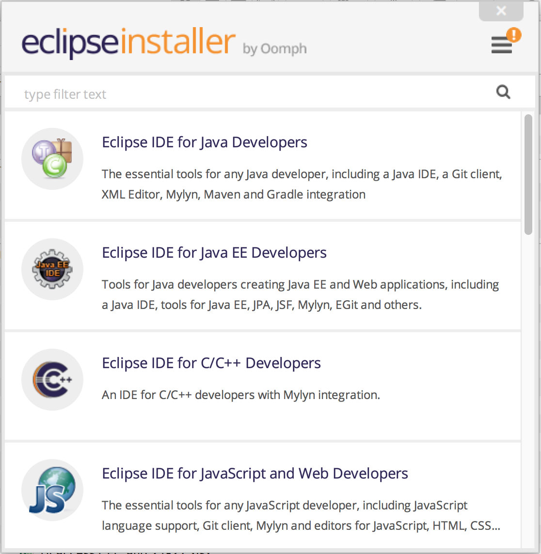 How to install eclipse ide core java and sdet training step 4 run eclipse installer baditri Choice Image